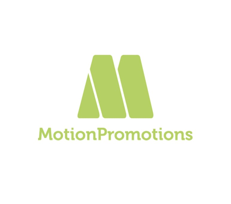 Logotipo y página web para Motion Promotions