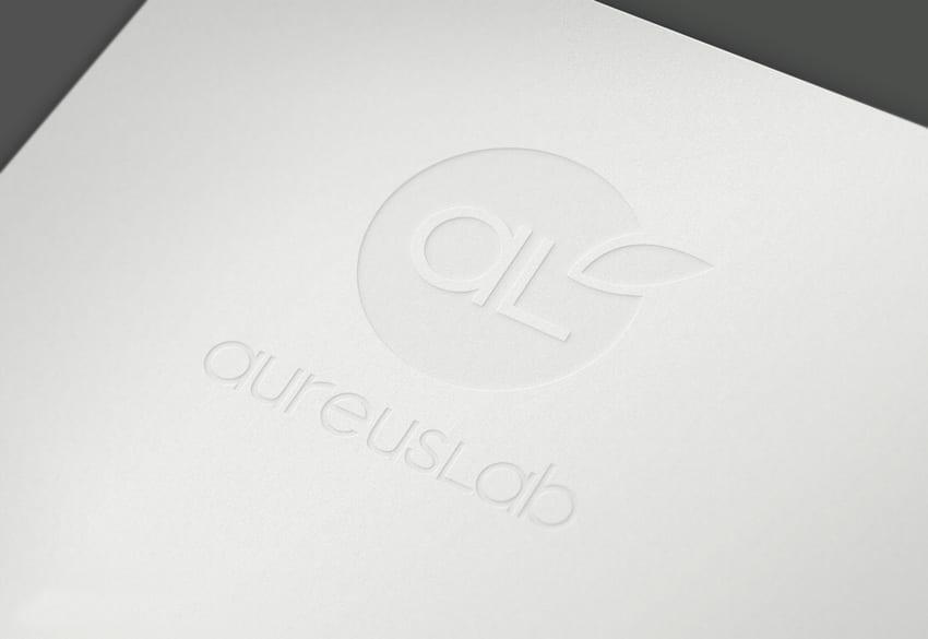Aplicación del logo en relieve