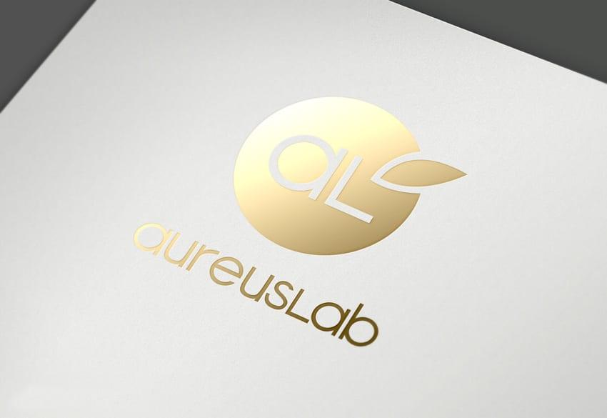Aplicación del logo - efecto oro