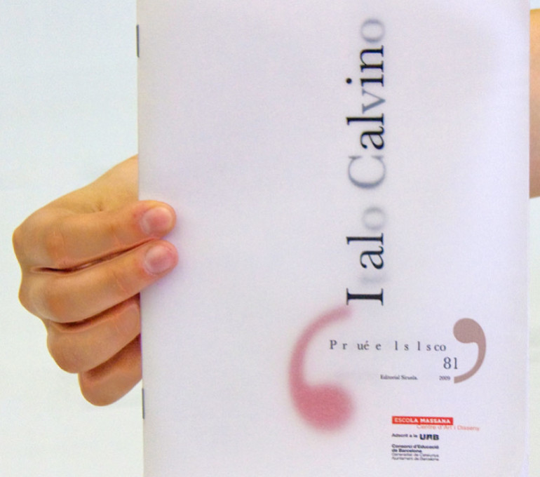 Brochure about Italo Calvino text