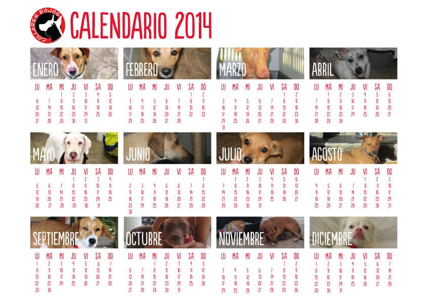 calendario-2014 Collares Rojos