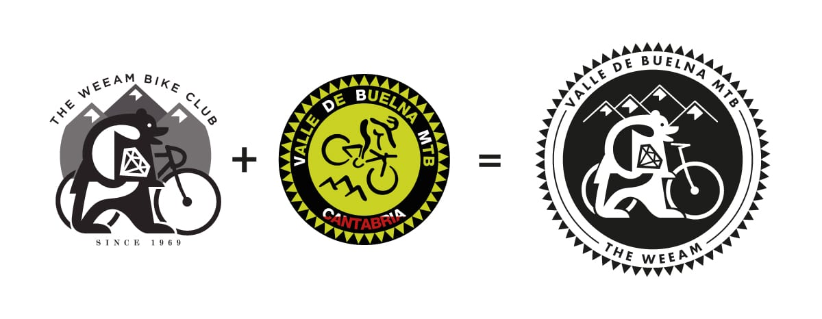 Combinación de logos de The Weeam y Mtb