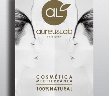 Diseño de Rollup, cartel y pegatina para AureusLab