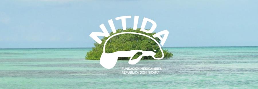 logotipo-blanco-sobre-fotografía-identidad-Nitida-Fundación-Medioambiental-sin-ánimo-de-lucro-República-Dominicana