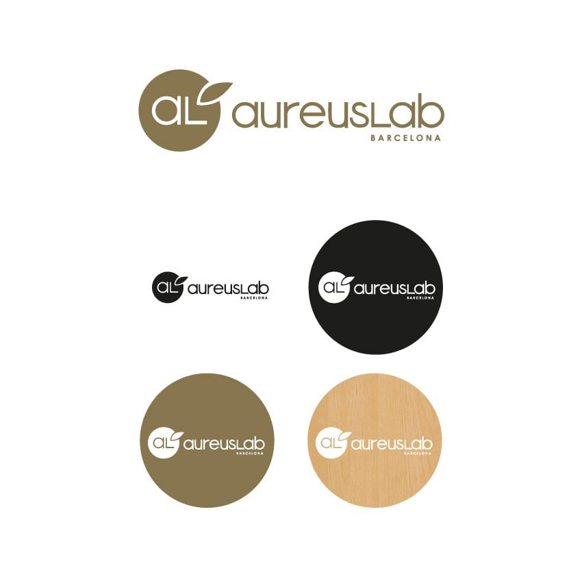 Rediseño de logotipo para AureusLab - Versión horizontal