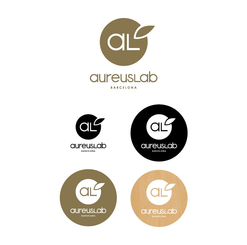 Rediseño de logotipo para AureusLab - Versión vertical
