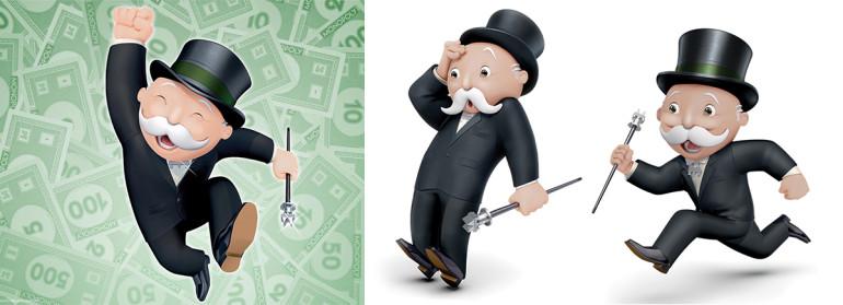 Evolución del diseño en la marca de Monopoly durante sus 78 años de historia