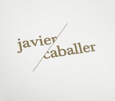 Identidad Corporativa y tarjetón de presentación para el artista Javier Caballer