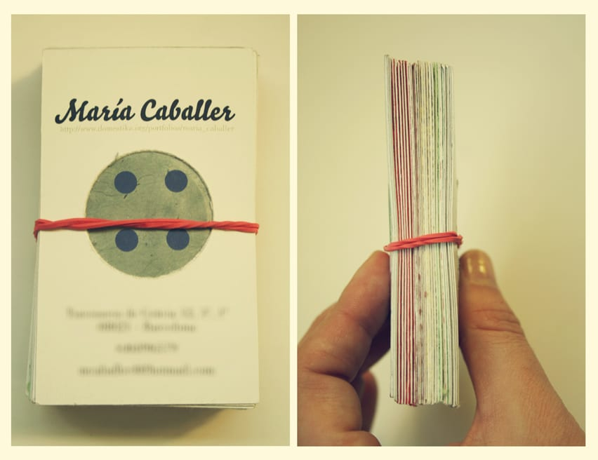 personal visit business cards by maria caballer - 1