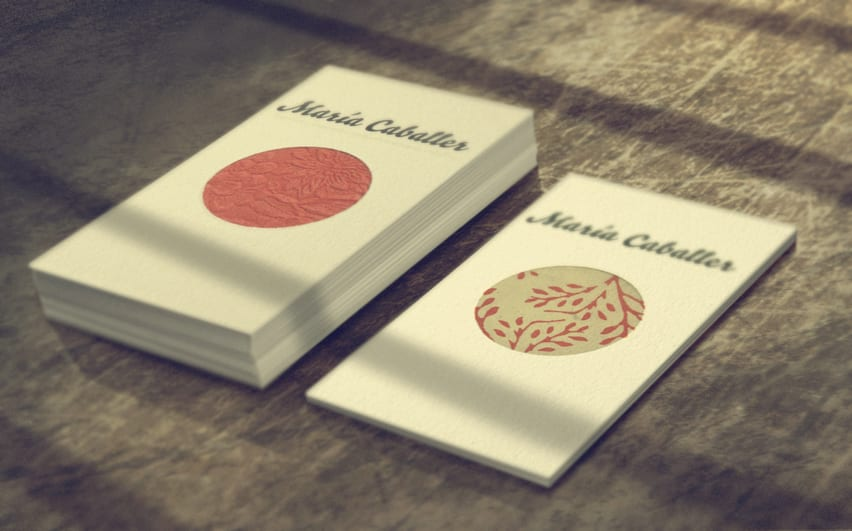 personal visit business cards by maria caballer - 2-1