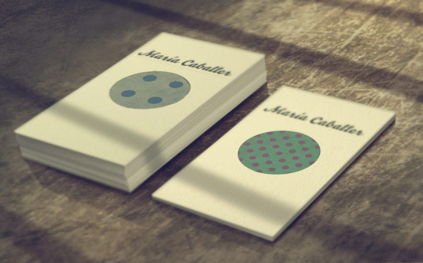 personal visit business cards by maria caballer - 2