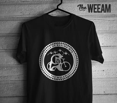 Diseño de camiseta para The Weeam + Mtb