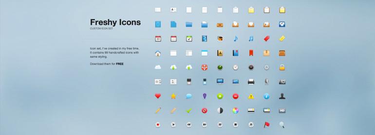 99 iconos gratuitos en PSD para sitios web