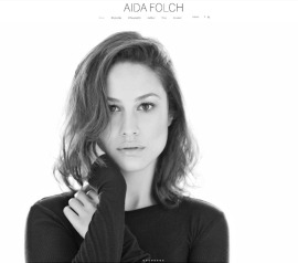 Official Website for the Spanish actress Aida Folch