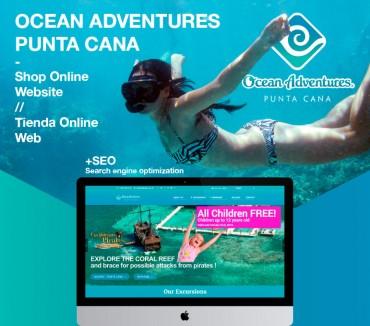 Web / tienda online para Ocean Adventures