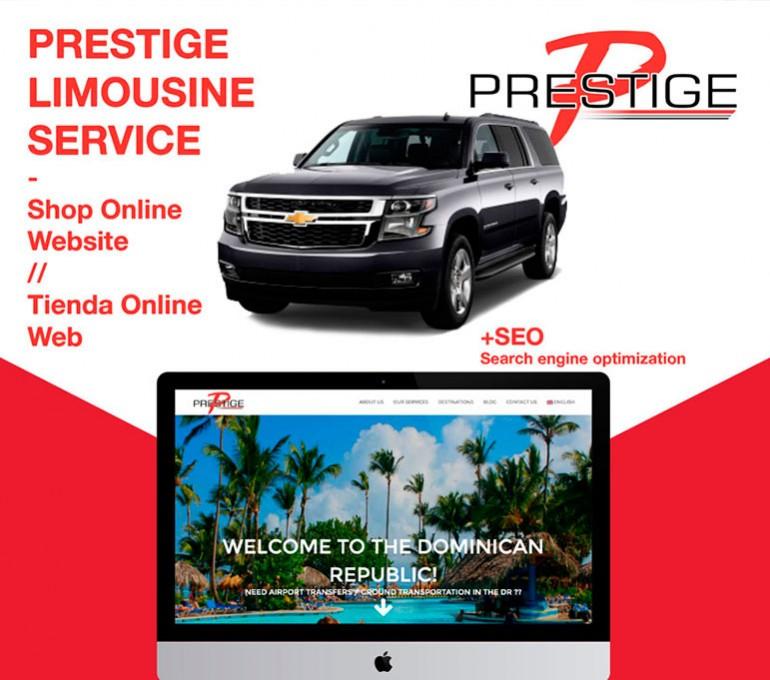 Web / Tienda online para Prestige Limousine Service