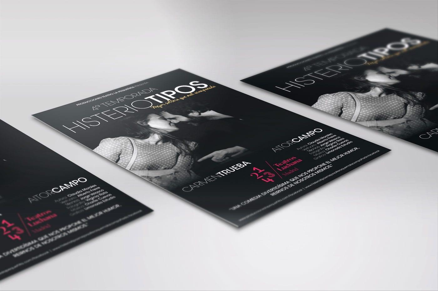 Flyers Histeriotipos - Teatros LUCHANA Madrid