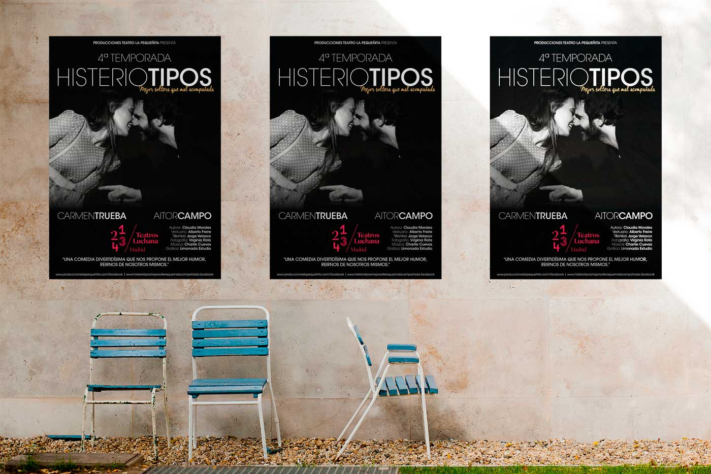 Poster Histeriotipos - Teatros LUCHANA Madrid